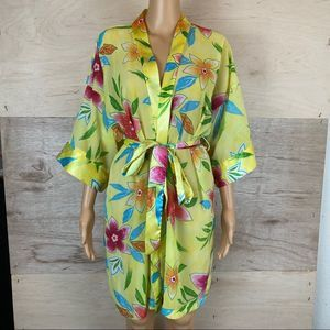 Vintage L.A Intimates Yellow Floral Robe